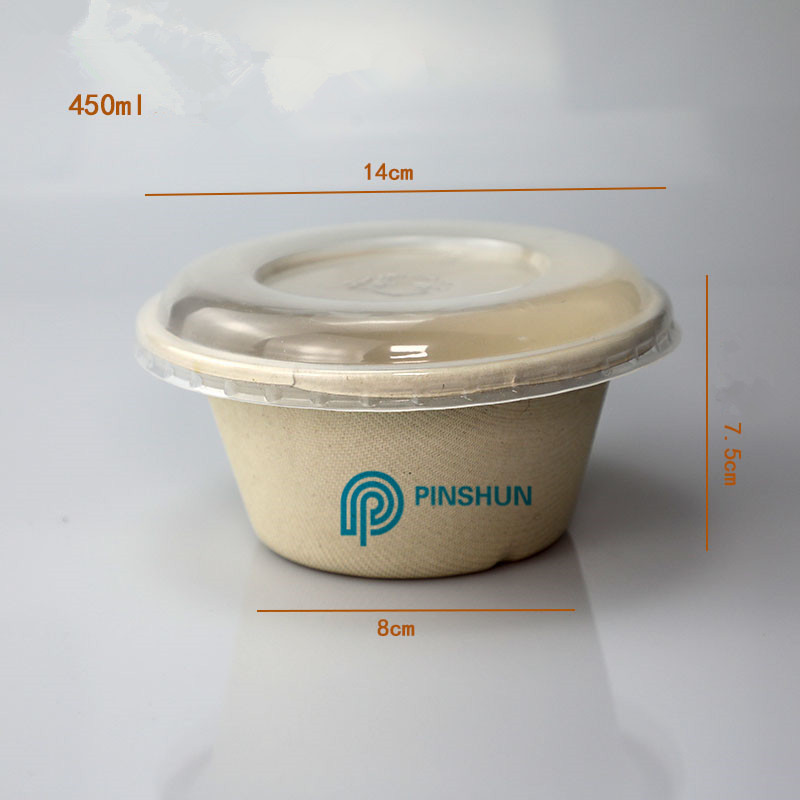 450ml biodegradable disposable round plate food box